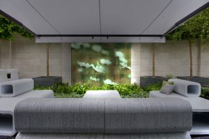 Aralia, RHS Chelsea Flower Show 2012, Contemporary Gardens, Roof Terraces, Urban Garden, Show Garden, Commercial Garden, LCD Outdoor Sports Screen, Award winning