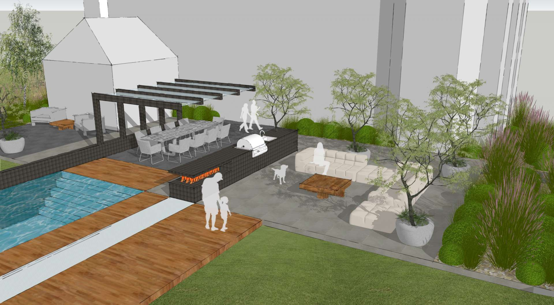 Fairwinds Ingatestone Essex Aralia Garden Design