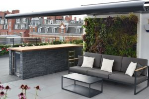 Aralia, Chelsea Creek Dockside House London Roof Terraces, Contemporary Gardens, Urban Gardens, Commercial Gardens, Garden furniture, Garden lighting, Award winning