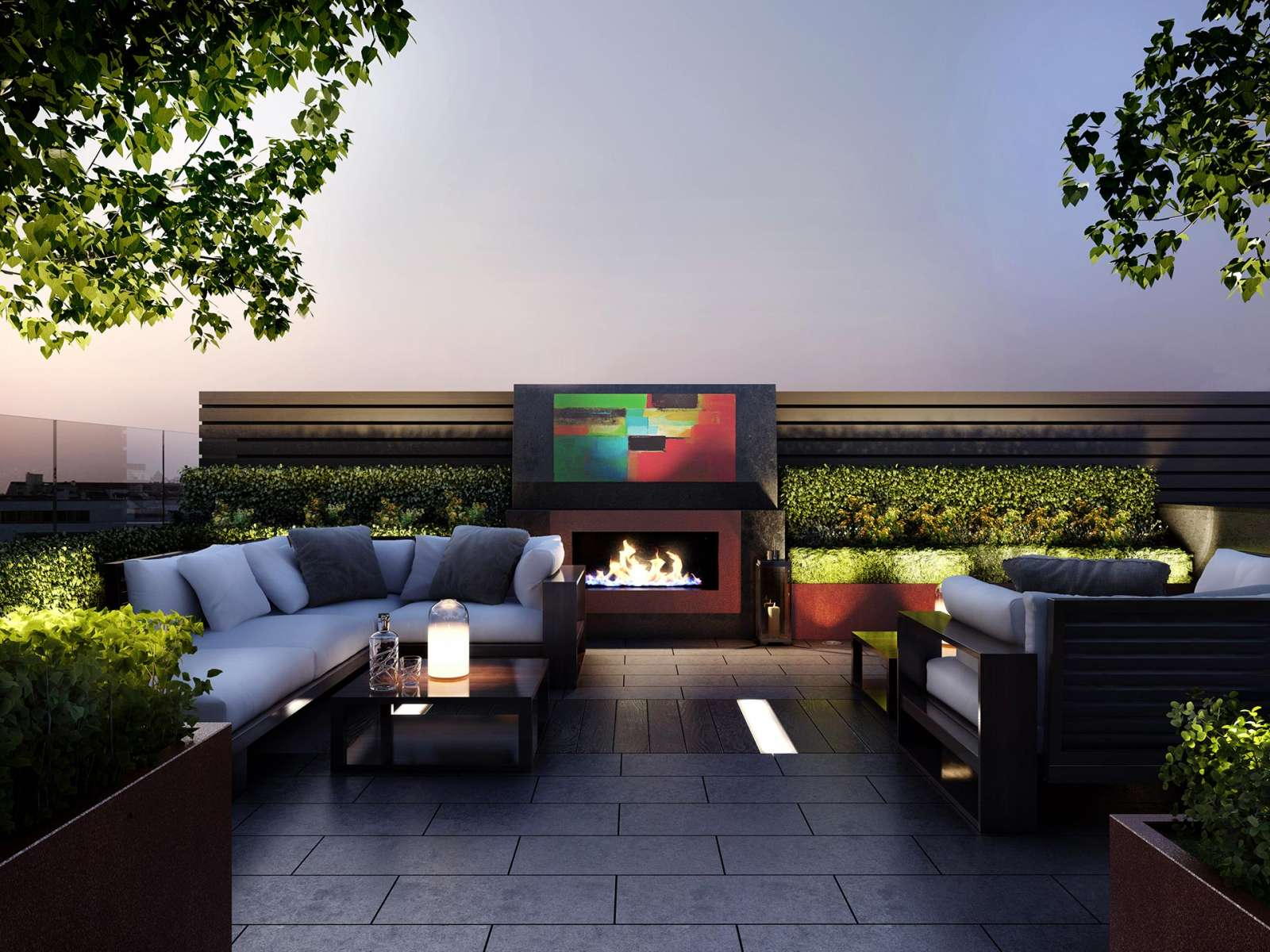 Rooftop Terrace Landscape Design