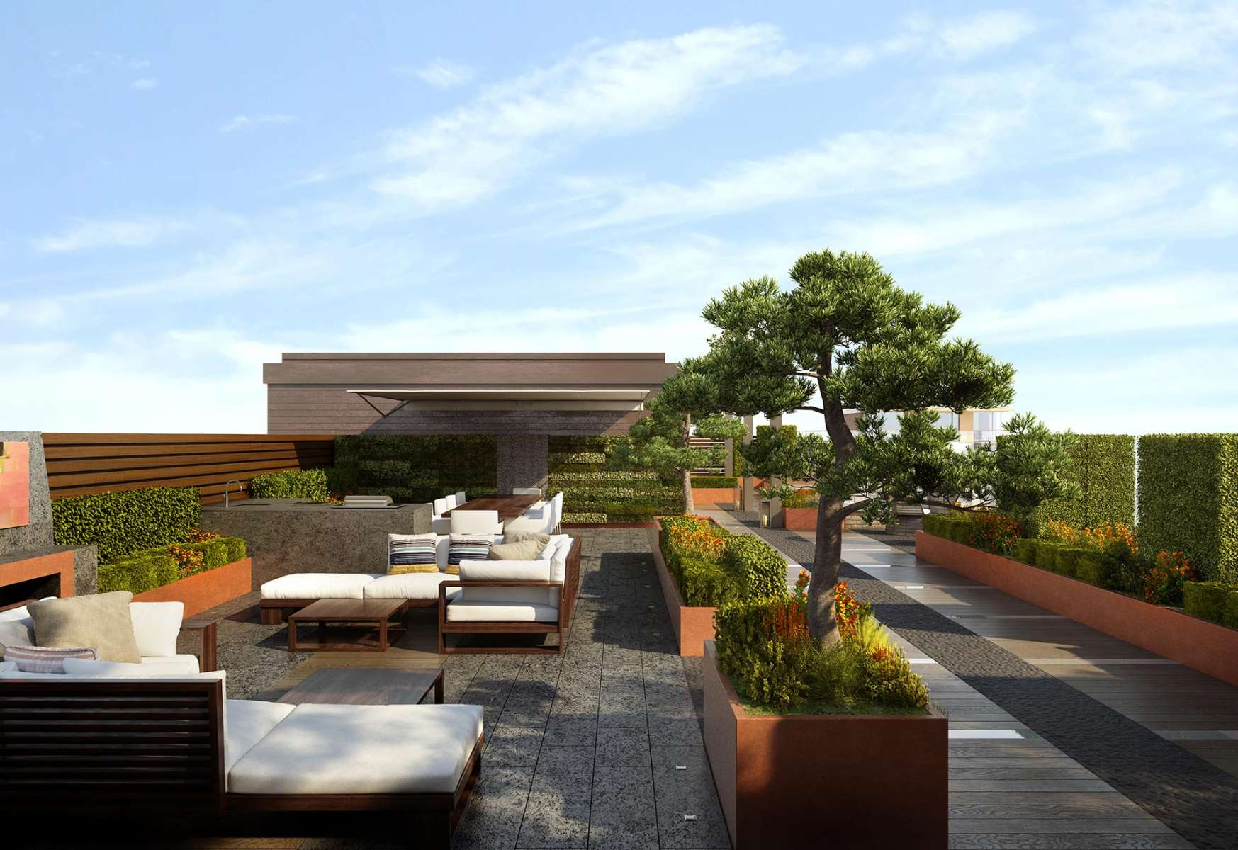 b Chelsea Creek Dockside House Penthouse Rooftop Garden c St George Plc