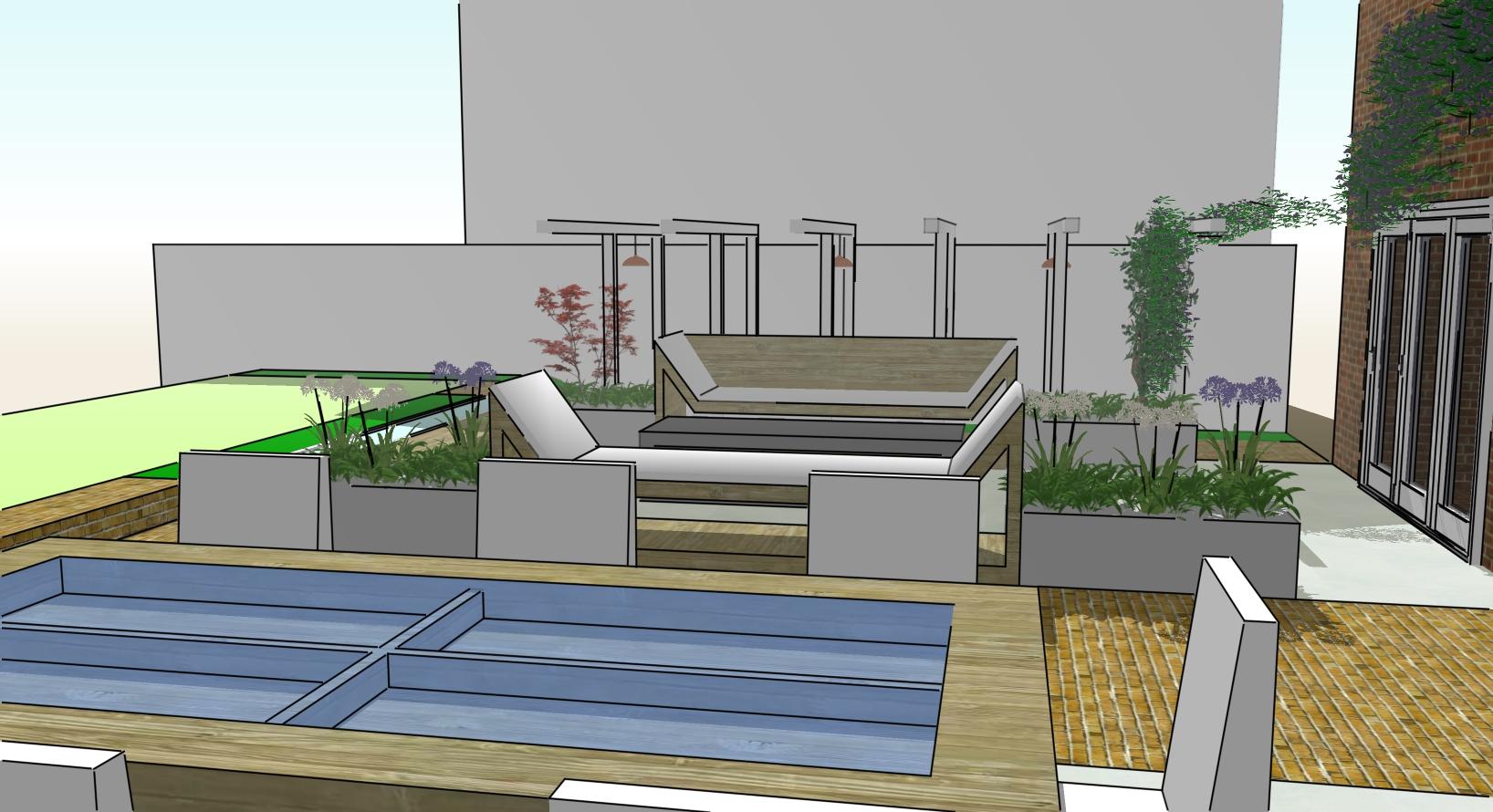 ST JOHN'S CLOSE WEST SUSSEX   Aralia Garden Design ...